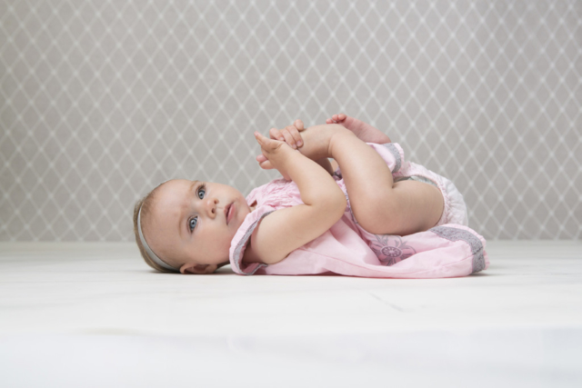 Six month old baby photograph