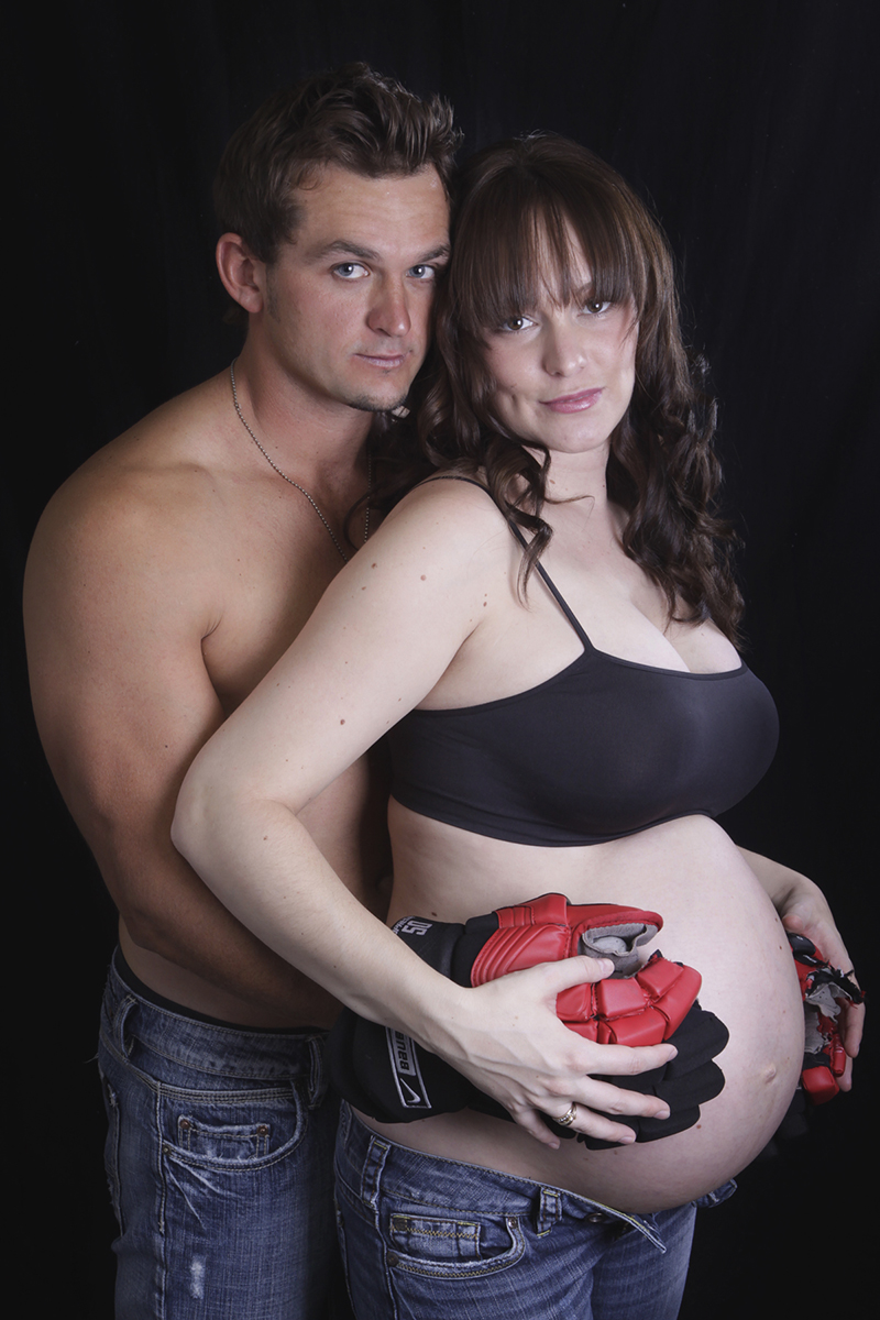 Maternity Session featuring Hockey Player