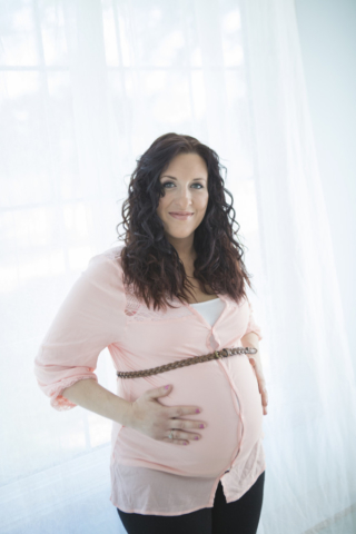 Indoor Maternity Session Photographer