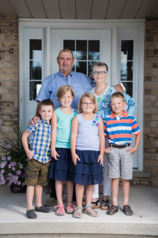 Grandparents with Grandchildren Photograph