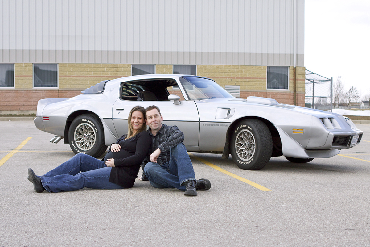 Classic Car Maternity Photography
