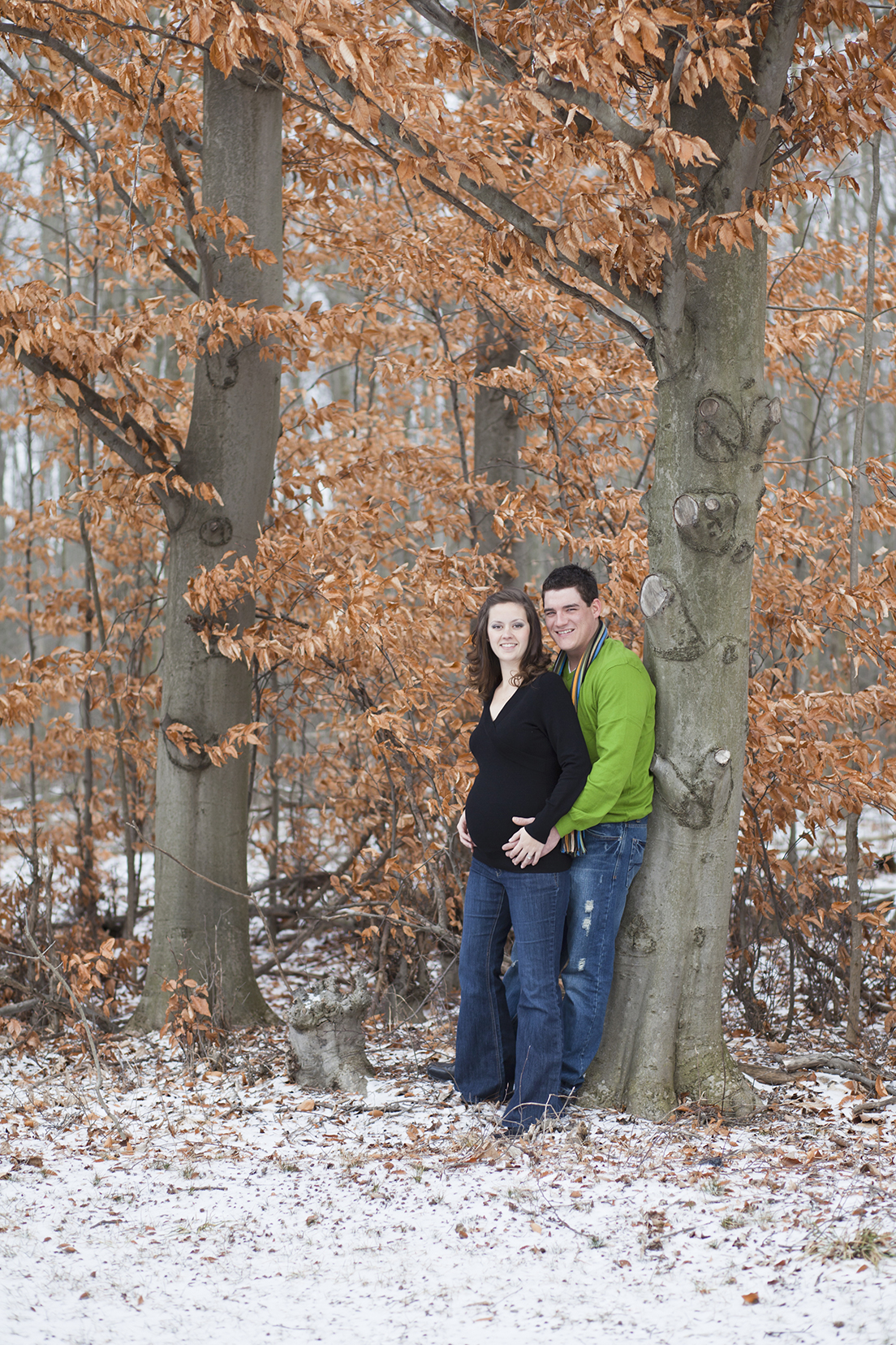 Winter Maternity Photography session
