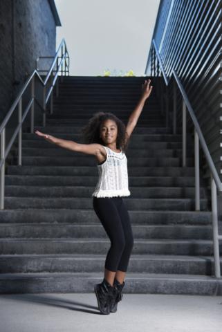 Dancer portrait in Cambridge downtown Galt