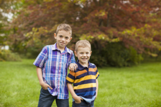 Sibling Brothers in cute portrait
