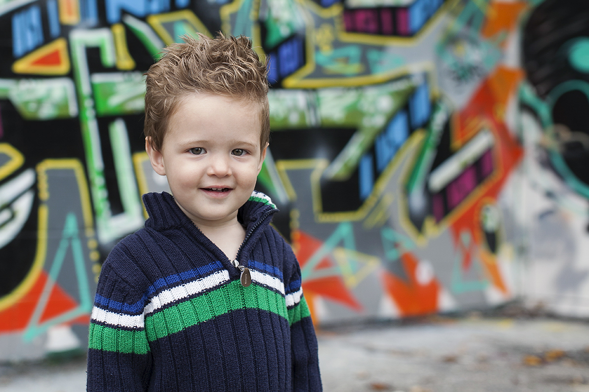 Graffiti and Child Portrait photography