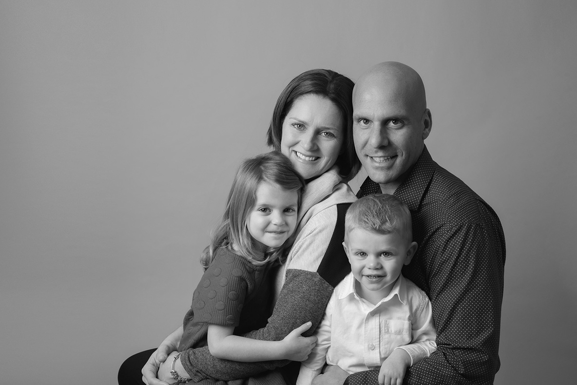 Family photographed in Cambridge, Ontario Photography Studio